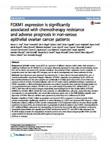 FOXM1 expression is significantly associated with chemotherapy resistance and adverse prognosis in non-serous epithelial ovarian cancer patients