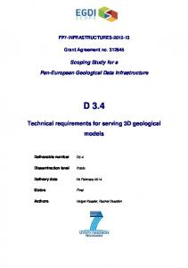 FP7-INFRASTRUCTURES Grant Agreement no Scoping Study for a. Pan-European Geological Data Infrastructure D 3.4