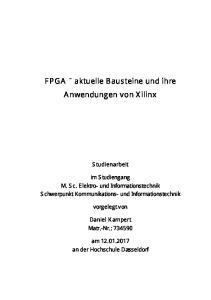 FPGA aktuelle Bausteine und ihre Anwendungen von Xilinx
