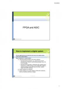 FPGA and ASIC. How to implement a digital system