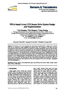 FPGA-based Array CCD Sensor Drive System Design and Implementation