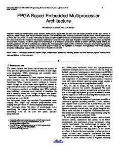 FPGA Based Embedded Multiprocessor Architecture