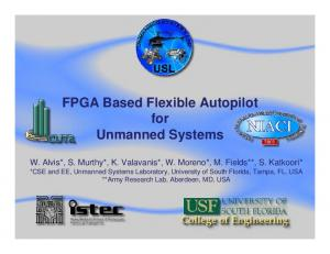 FPGA Based Flexible Autopilot for Unmanned Systems