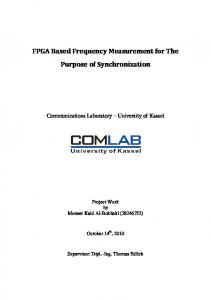FPGA Based Frequency Measurement for The Purpose of Synchronization