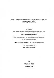 FPGA BASED IMPLEMENTATION OF IEEE a PHYSICAL LAYER