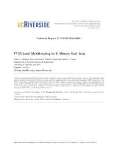 FPGA-based Multithreading for In-Memory Hash Joins