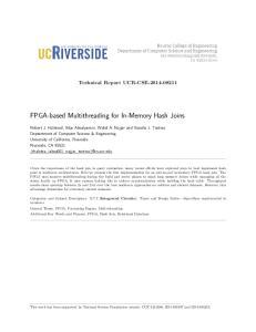 FPGA-based Multithreading for In-Memory Hash Joins