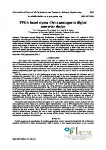 FPGA based sigma Delta analogue to digital converter design