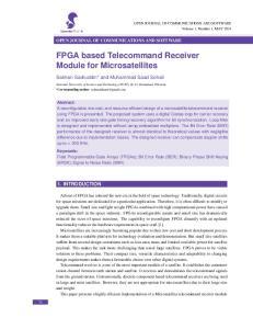 FPGA based Telecommand Receiver Module for Microsatellites