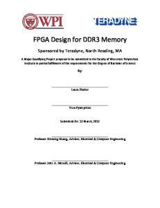 FPGA Design for DDR3 Memory