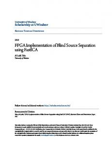 FPGA Implementation of Blind Source Separation using FastICA