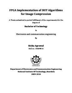 FPGA Implementation of DHT Algorithms for Image Compression