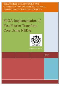 FPGA Implementation of Fast Fourier Transform Core Using NEDA