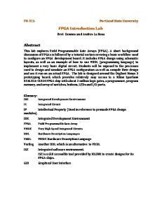 FPGA Introduction Lab