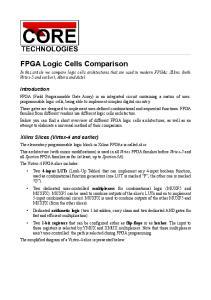 FPGA Logic Cells Comparison