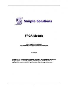 FPGA-Module. Online version of this document: