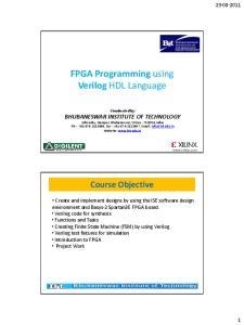 FPGA Programming using Verilog HDL Language