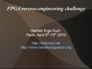 FPGA reverse-engineering challenge