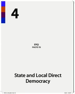 FPO PHOTO TK. State and Local Direct Democracy