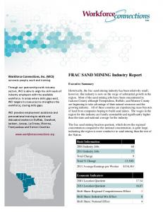 FRAC SAND MINING Industry Report