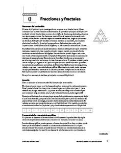 Fracciones y fractales