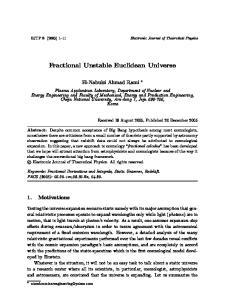 Fractional Unstable Euclidean Universe