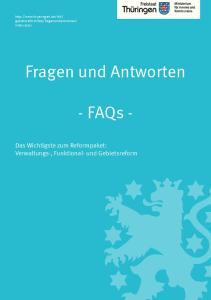 Fragen und Antworten. - FAQs -
