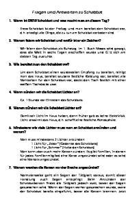 Fragen und Antworten zu Schabbat