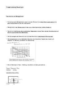 Fragenkatalog Bauphysik