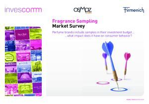 Fragrance Sampling Market Survey