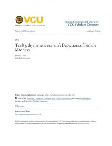 Frailty, thy name is woman : Depictions of Female Madness