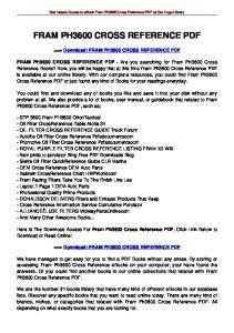 FRAM PH3600 CROSS REFERENCE PDF