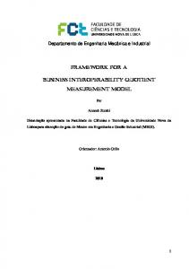 Framework for a. Business Interoperability Quotient Measurement Model