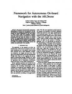 Framework for Autonomous On-board Navigation with the AR.Drone