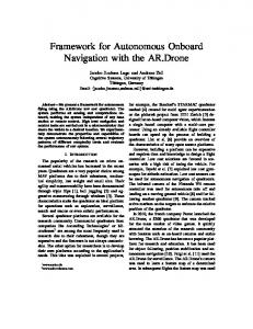 Framework for Autonomous Onboard Navigation with the AR.Drone