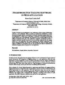 FRAMEWORK FOR TAGGING SOFTWARE IN WEB APPLICATION