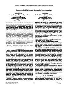 Framework of Indigenous Knowledge Representation