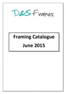 Framing Catalogue June 2015
