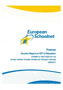 France. Country Report on ICT in Education