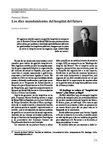 Francesc Moreu Los diez mandamientos del hospital del futuro