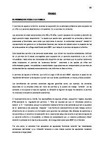 FRANCIA EL PERMISO DE AYUDA A LA FAMILIA