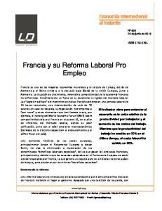 Francia y su Reforma Laboral Pro Empleo