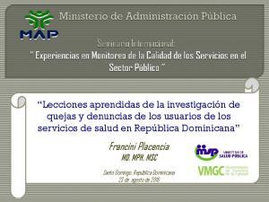 Francini Placencia MD, MPH, MSC