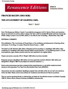 FRANCIS BACON ( )