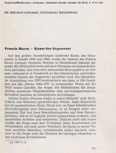 Francis Bacon - Kunst der Gegenwart
