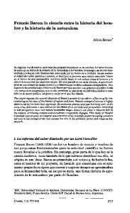 Francis Bacon: la ciencia entre la historia del hombre