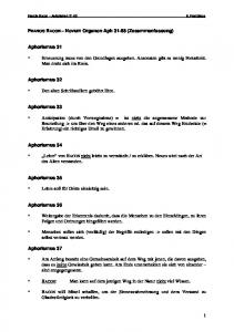 FRANCIS BACON Novum Organon Aph (Zusammenfassung) Aphorismus 31