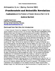 Frankenstein and Scientific Revelation