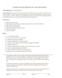 Franklin County Regional Jail- Job Information