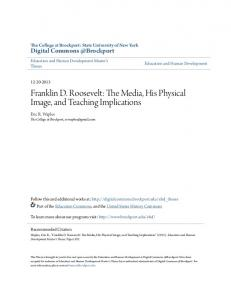 Franklin D. Roosevelt: The Media, His Physical Image, and Teaching Implications
